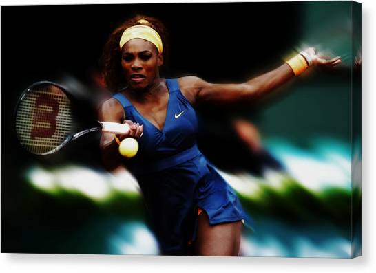 Maria Sharapova Canvas Print - Serena Williams Making It Look Easy by Brian Reaves