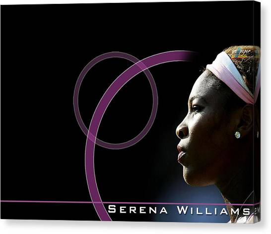 Tennis Pros Canvas Print - Serena Williams by Super Lovely