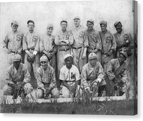 Baseball Players Canvas Print - Sf Seals Baseball Team by Underwood Archives