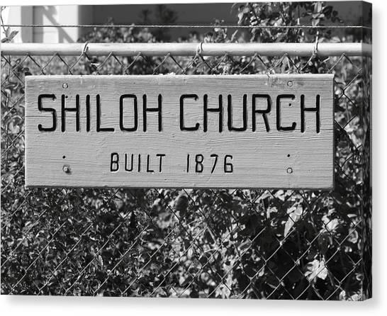 Shiloh Church Sign Birds Landing Ca Canvas Print by Troy Montemayor