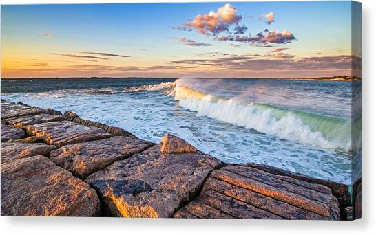 Shinnecock Inlet Surf Canvas Print