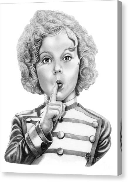Shirley Temple Canvas Print - Shirley Temple by Murphy Elliott