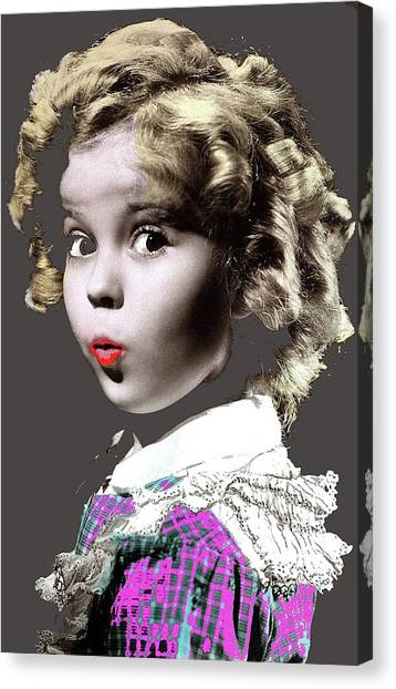 Shirley Temple Canvas Print - Shirley Temple Publicity Photo C.1934-2013 by David Lee Guss
