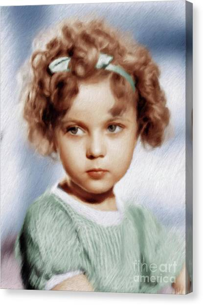 Shirley Temple Canvas Print - Shirley Temple, Vintage Actress by Mary Bassett
