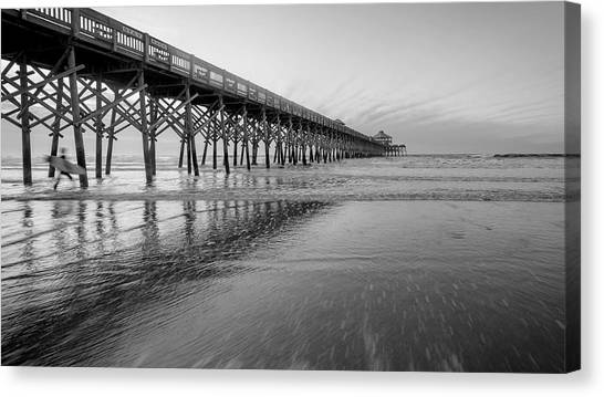 Shoot The Pier Canvas Print by Michael Donahue