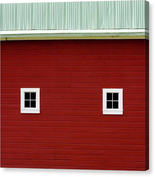 Big Red Canvas Print - Side Of A Big Red Barn In The Palouse by Carol Leigh