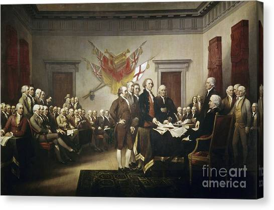 Rights Canvas Print - Signing The Declaration Of Independence by John Trumbull