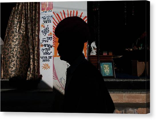 Silhouette Of A Man  Canvas Print
