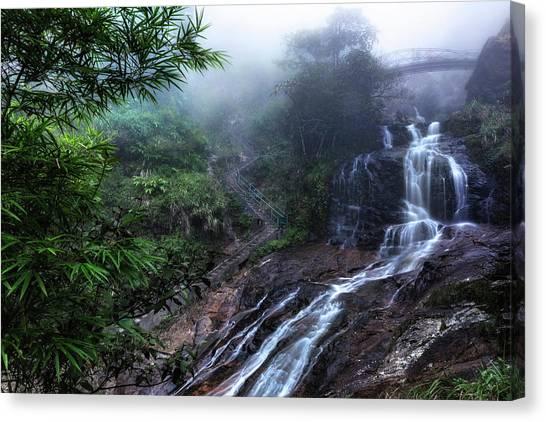 Vietnamese Canvas Print - Silver Waterfall - Vietnam by Joana Kruse