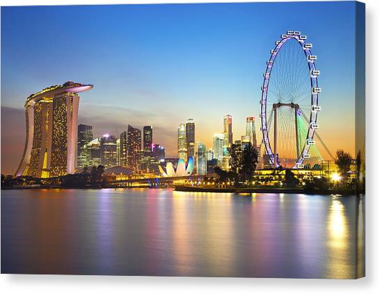 Singapore Skyline Canvas Print - Singapore by Been inspired,beautifull, Buyer are welcome to make enquiry