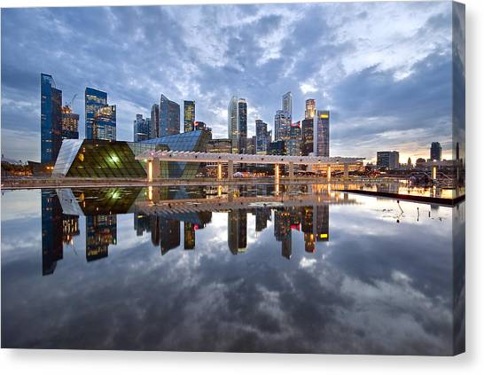 Singapore Cityscape Canvas Print