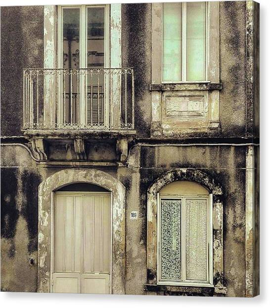 Syracuse University Canvas Print - #siracusa #syracuse #syra #windows by The Ivy Mike