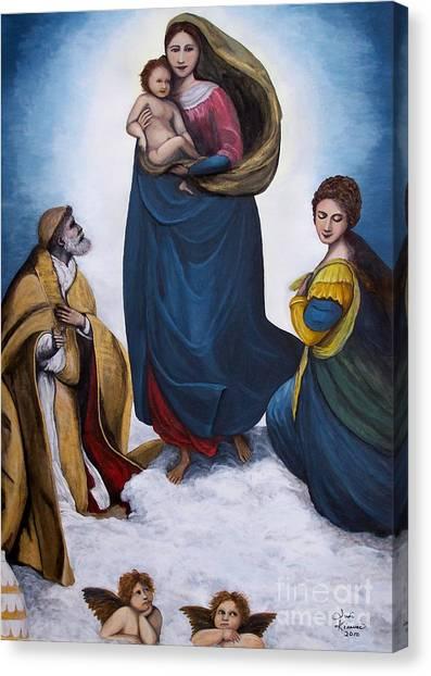 Sistine Madonna Canvas Print