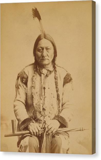 Sitting Bull 1831-1890, Lakota Sioux Canvas Print by Everett