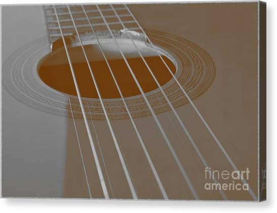 Six Guitar Strings Canvas Print