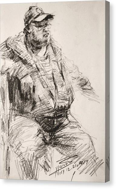 Pencils Canvas Print - Sketch Man 20 by Ylli Haruni