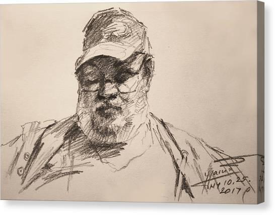 Ink Drawing Canvas Print - Sketch  by Ylli Haruni