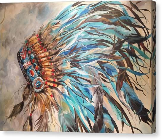 Sky Feather Canvas Print