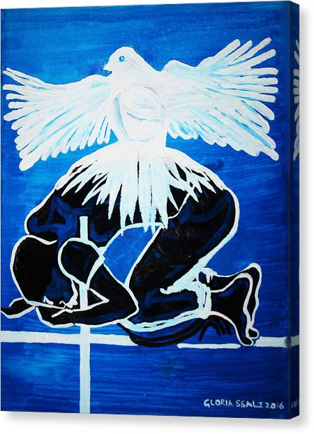 Slain In The Holy Spirit Canvas Print