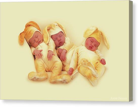Easter Canvas Print - Sleeping Bunnies by Anne Geddes
