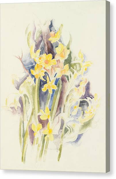 Precisionism Canvas Print - Small Daffodils by Charles Demuth