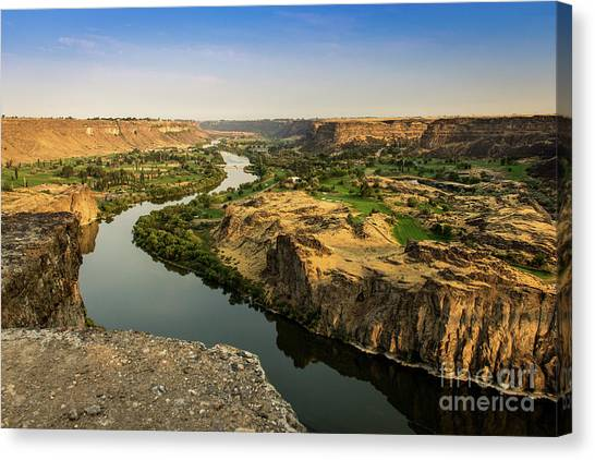 Boise National Forest Canvas Print - Snake River Canyon In Idaho Journey Landscape Photography By Kaylyn Franks by Kaylyn Franks