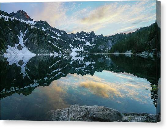 Table Mountain Canvas Print - Snow Lake Chair Peak Dusk Reflection by Mike Reid