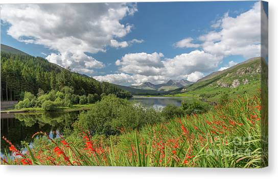 Snowdon Canvas Print - Snowdonia Lake by Adrian Evans