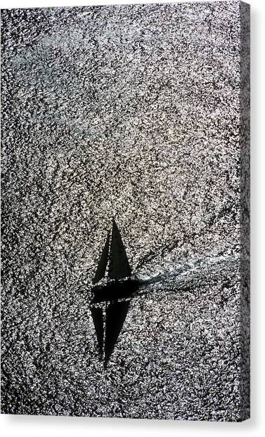 Sailing Into Solitude Canvas Print