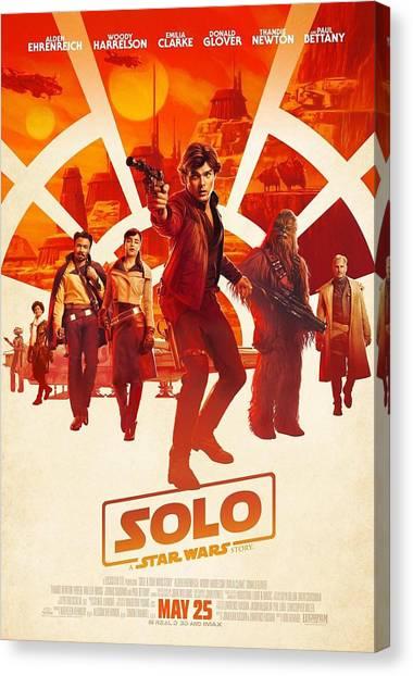 Yoda Canvas Print - Solo A Star Wars Story by Geek N Rock