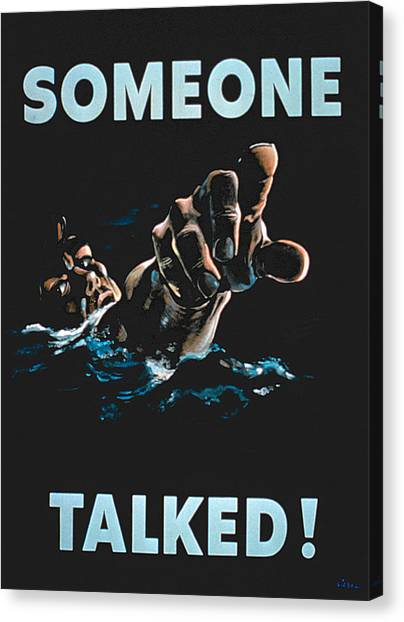 Accused Canvas Print - Someone Talked by American School