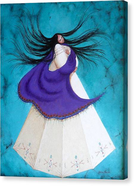 Song Of My Heart Canvas Print by Karen Roncari