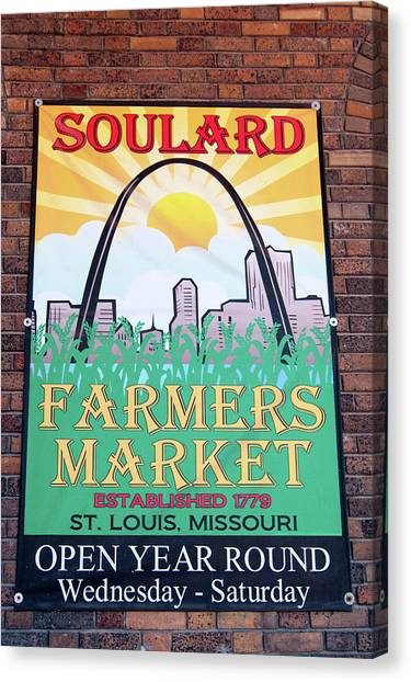 Soulard Farmers Market Canvas Print