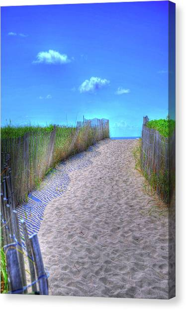 South Beach Canvas Print by Kelly Wade