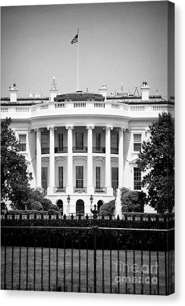 Whitehouse Canvas Print - southern facade of the white house Washington DC USA by Joe Fox