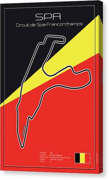 Cobra Canvas Print - Spa Francorchamps Racetrack by Theodor Decker