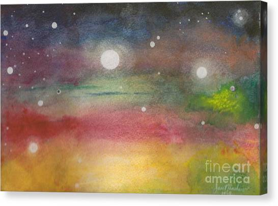 Space Rainbow Canvas Print by Janet Hinshaw