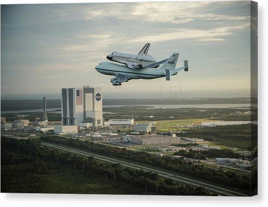 Space Ships Canvas Print - Space Shuttle by Super Lovely
