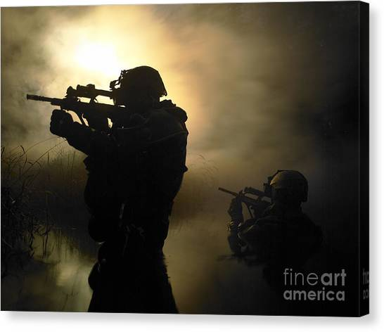 Special Forces Canvas Print - Special Operation Forces Combat Divers by Tom Weber