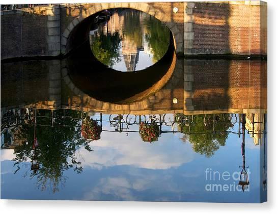 Rijksmuseum Canvas Print - Spiegelgracht Canal In Amsterdam. Netherlands. Europe by Bernard Jaubert