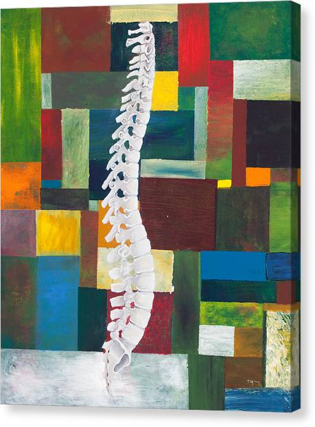 Bone Canvas Print - Spine by Sara Young