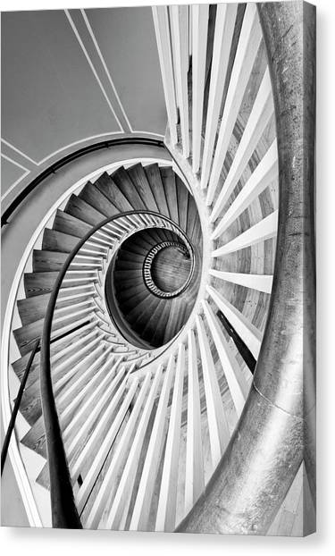 Spiral Staircase Lowndes Grove Canvas Print