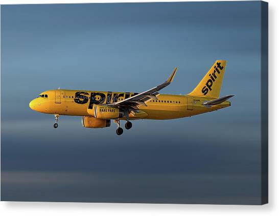 Spirit Canvas Print - Spirit Airlines Airbus A320-232 by Smart Aviation