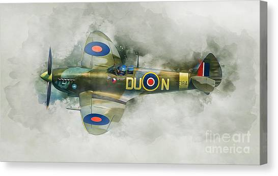 Canopy Canvas Print - Spitfire by Ian Mitchell