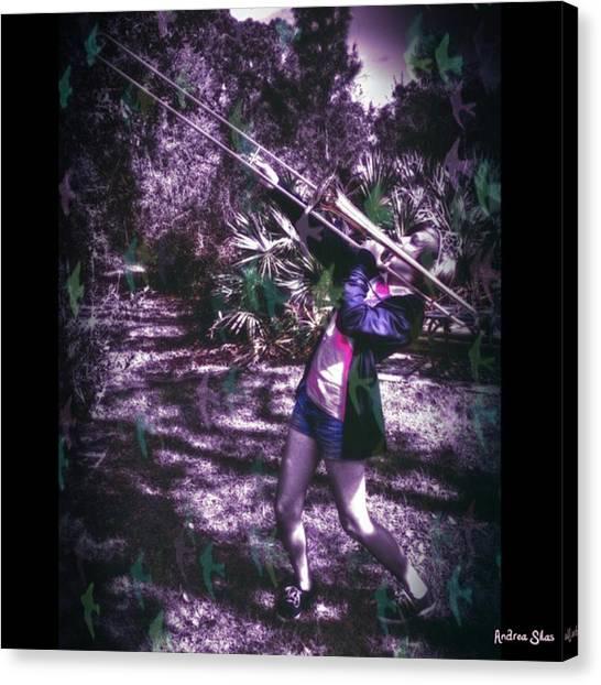 Trombones Canvas Print - #squareinstapic #pixlr #retrocamera by Andrea Silas