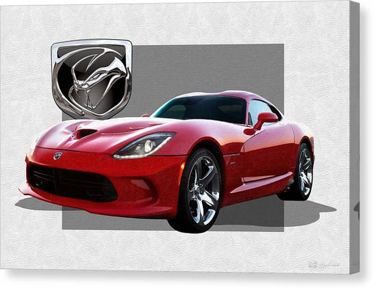 Vipers Canvas Print - S R T  Viper With  3 D  Badge  by Serge Averbukh