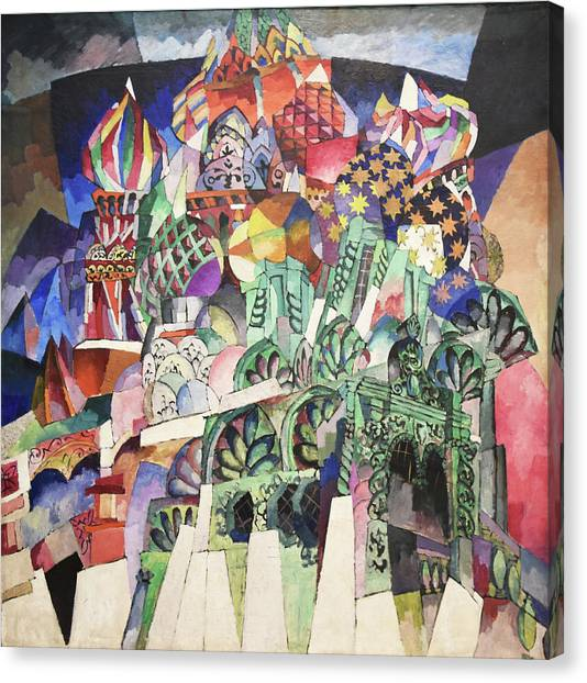 St. Basil's Cathedral Canvas Print by Aristarkh Lentulov