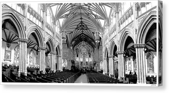 Prince Edward Island Canvas Print - St Dunstans Basilica by Greg Joens