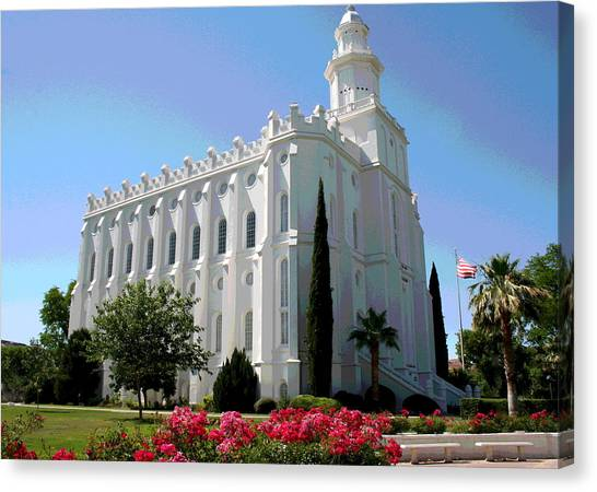 St George Utah Temple Canvas Print
