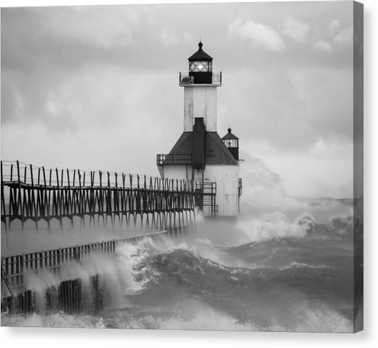St. Joseph North Pier Lighthouse Canvas Print